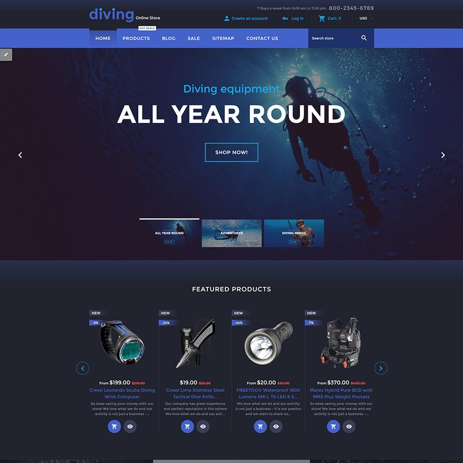 Diving Shopify Theme