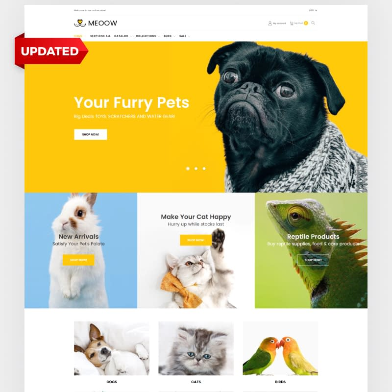 Cute Pet Shop Shopify Theme