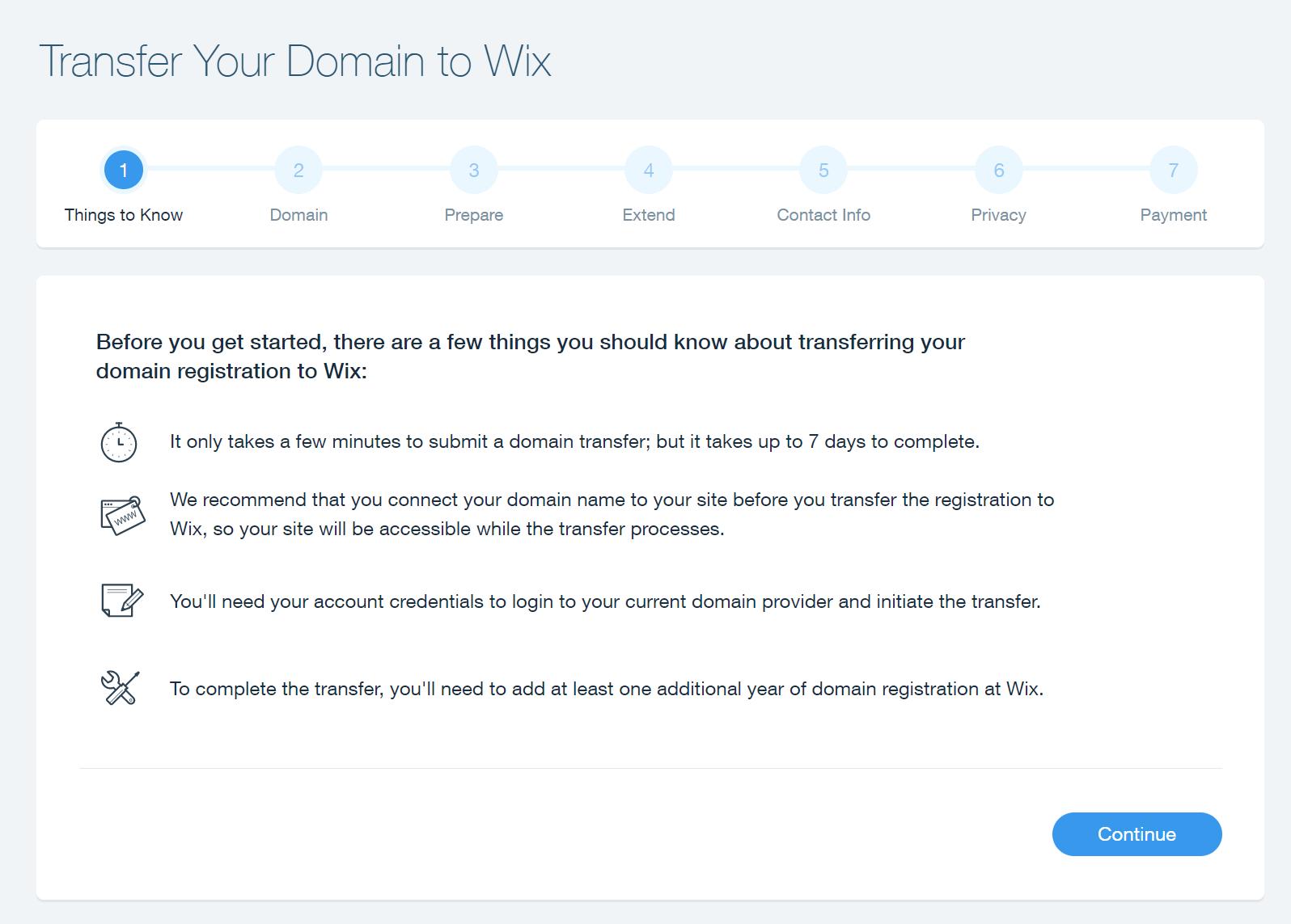 wix domain transfer