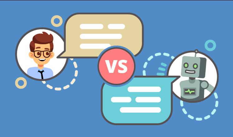 chatbots vs. live engagement