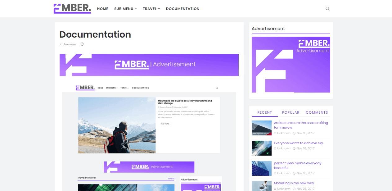 Material design blogger template