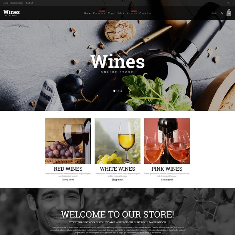 Wine Responsive Shopify Theme