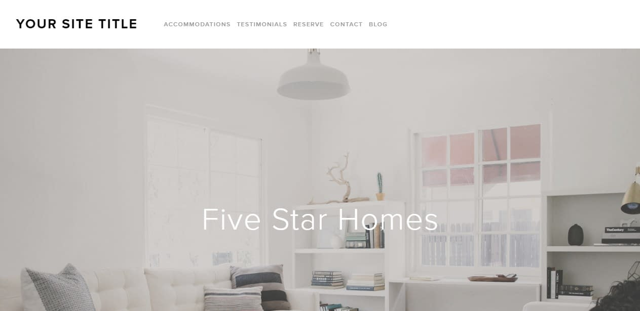 Five squarespace template