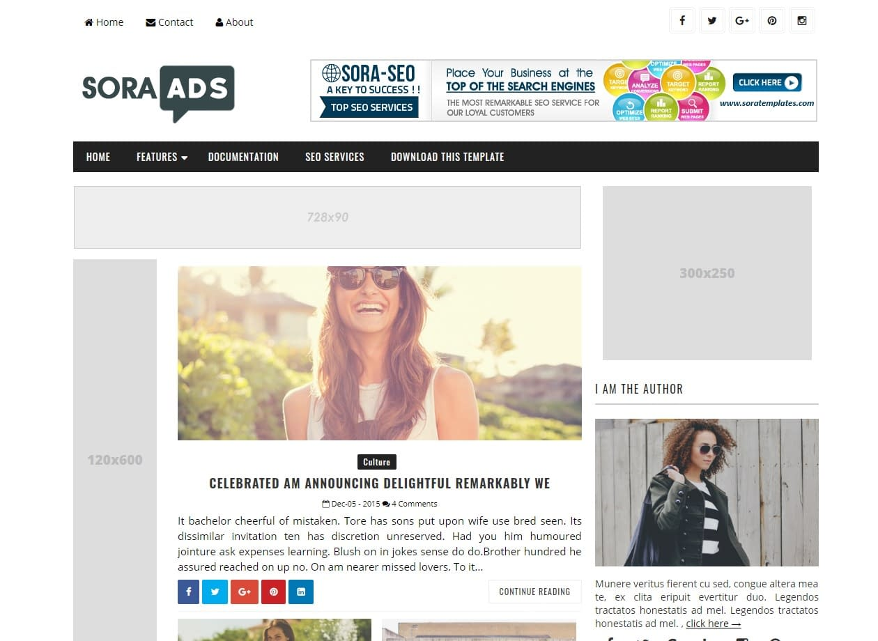 For blogger free template 20+ Best