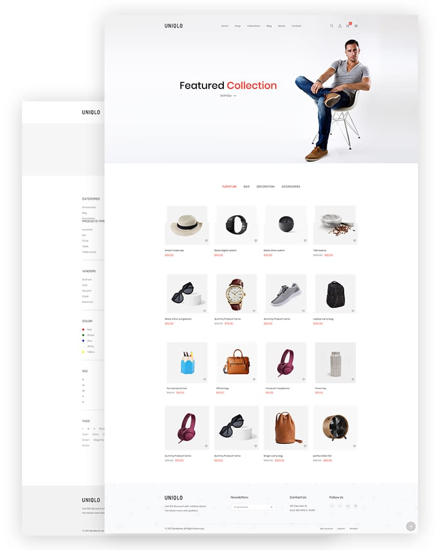 Uniqlo - Minimal Shopify Theme