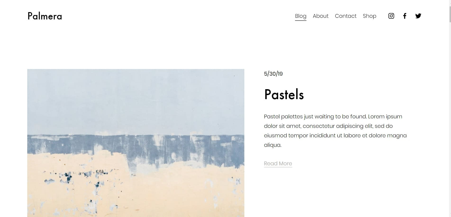 squarespace template for blog