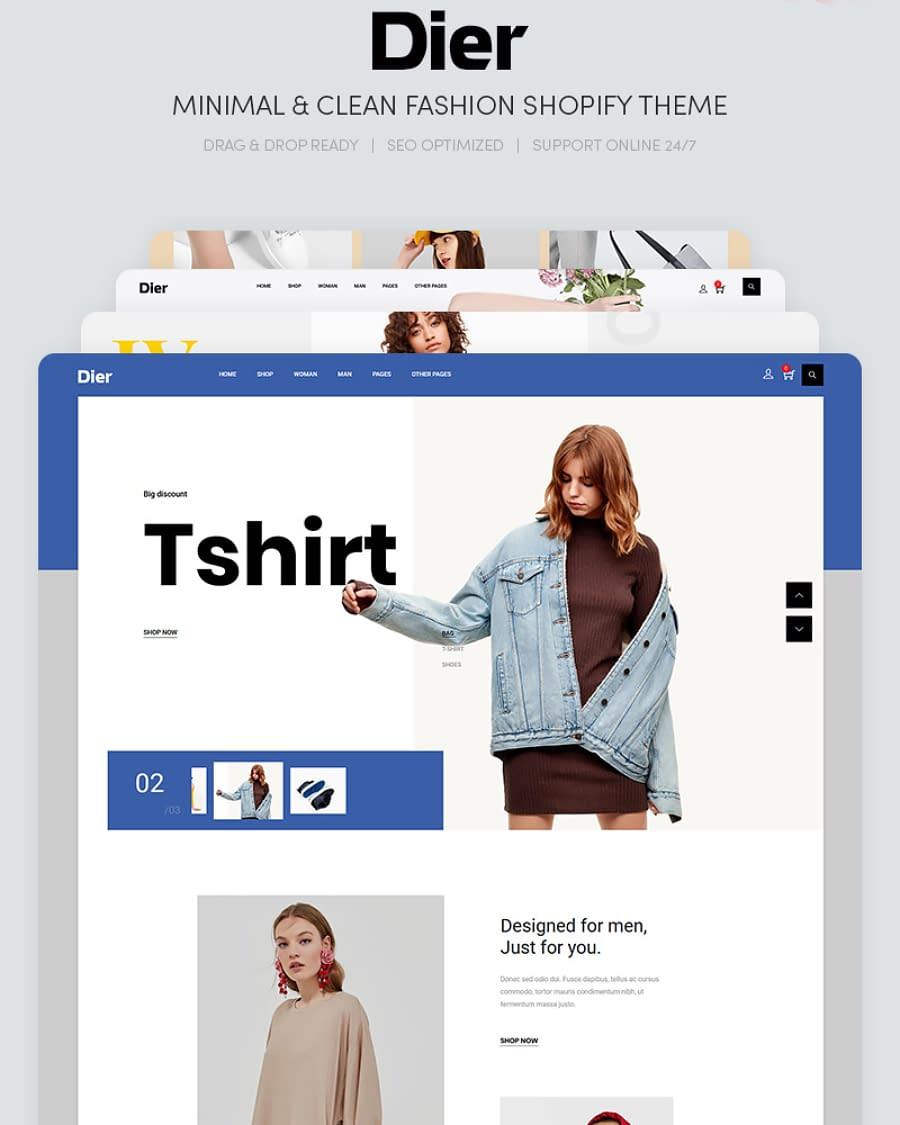 DIER - Minimal & Clean Fashion Shopify Theme